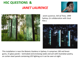 HSC QUESTIONS + JANET LAURENCE 2