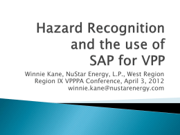 What is Hazard Recognition? - VPPPA