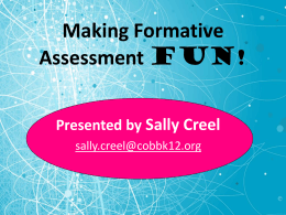 Foldable Formative Assessments Presentation