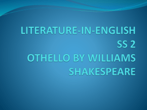 LITERATURE-IN-ENGLISH SS 2 OTHELLO BY WILLIAMS