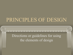 Principles of Design PowerPoint Presentation