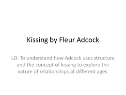 Kissing by Fleur Adcock