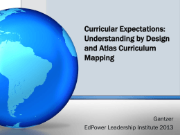 Understanding by Design and Atlas Curriculum Mapping