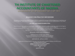 TH INSTITUTE OF CHARTERED ACCOUNTANTS OF
