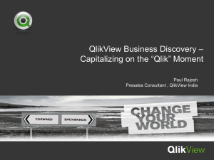 QlikView Power Point Template Front Title Page - C