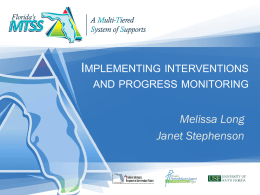 Implementing Interventions FINAL