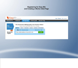 Getting Started With EasyBib