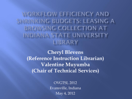 Workflow Efficiency and Shrinking Budgets