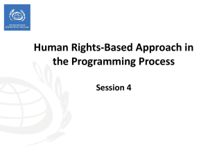 Session 4 - HRBA in the Programming Process
