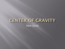 Center of Gravity - knotts