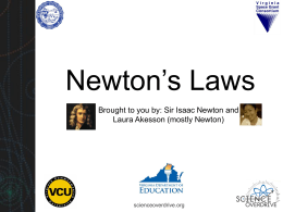 Newton`s Laws (powerpoint)