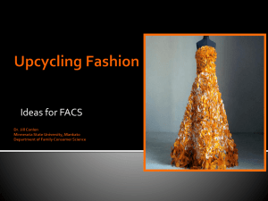 Upcycling Fashion Curriculum - Minnesota State University, Mankato