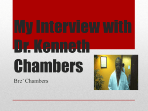 EDUC 131 Interview PP Bre` Chambers