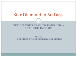 Star Diamond in 60 Days - Team Go Getters Training