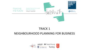 Neighbourhood Planning for Business