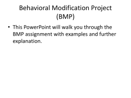 Behavior Modification Project PowerPoint