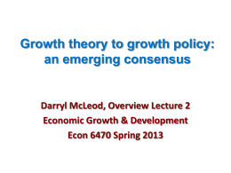 Lecture 2 Growth Theory to Growth Strategy