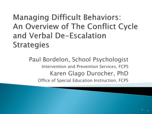 Managing Difficult Students: Verbal De