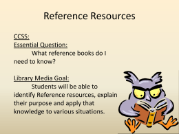 Reference Resources