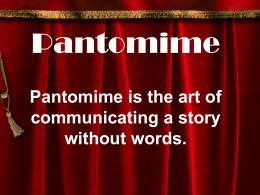 Pantomime Powerpoint