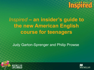 Inspired – an insider`s guide to the new American English course for