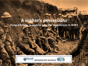 soldiers possessions