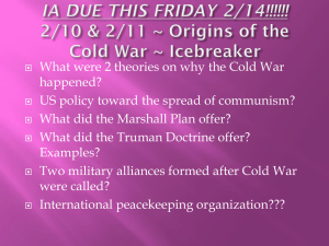 2/6 & 2/7 ~ Origins of the Cold War ~ Icebreaker