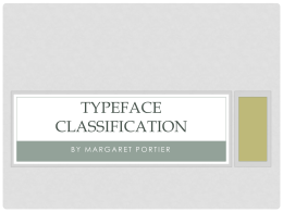 Typeface Classification