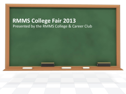 College Fair Presentation