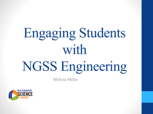 Engaging Students with NGSS Engineering PowerPoint