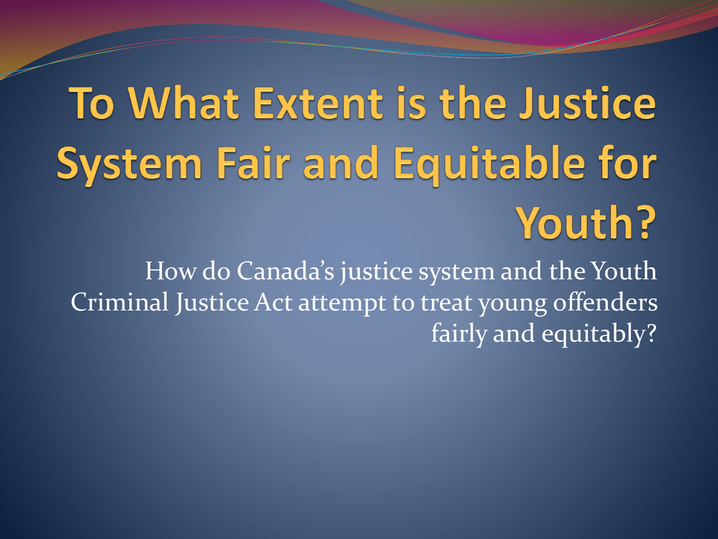 ycja fair equitable essay