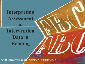 Reading Assessments & Interventions