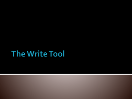 The Write Tool Basics