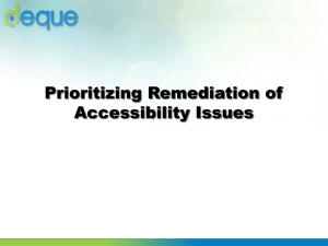 Prioritizing Remediation-Accessibility Issues