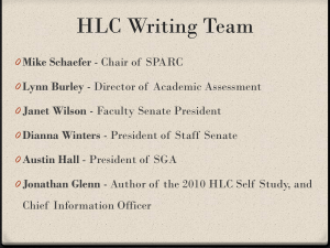 HLC Writing Team