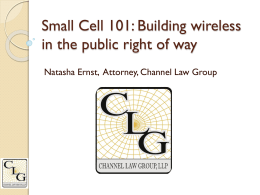 Small Cell 101-NATE (Natasha Ernst)