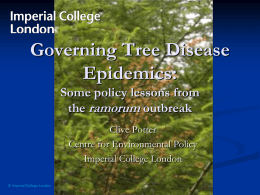 Governing Tree Disease Epidemics: Some policy lessons from the