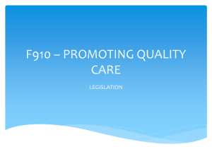 A910 * PROMOTING QUALITY CARE