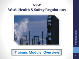 NSW Work Health Safety Act 2012