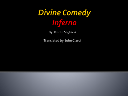What kind of thesis statement for a research paper on Dante's Divine Comedy?