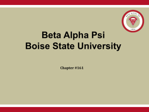 Power Point: Why Join Beta Alpha Psi?