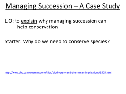 Managing Succession * A Case Study