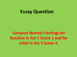Romeo and Juliet Essay