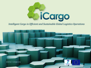 iCargo_WP1 - Intelligent Cargo in Efficient and Sustainable