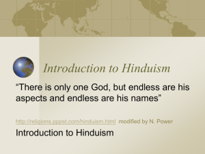 Hinduism 101 - College of the Holy Cross
