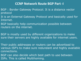 CCNP Network Route -BGP Part