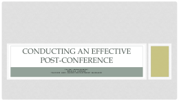 Having an Effective Post