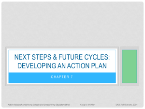 Next steps & future cycles: Developing an action