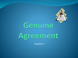 Genunine Agreement/Fraud Ch 6 PP