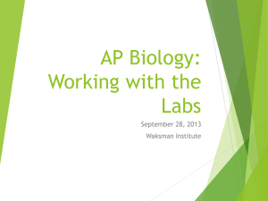 Download:APBiology workshop PPT presentation from 9.28